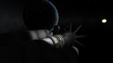 Kerbin high-orbit experiments with Boron I