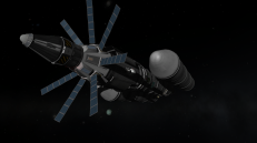 Minmus capture. Ankou I is attached to the rear of the vessel