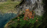 Goblin village at the foot of a mountain.